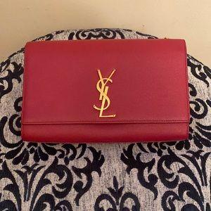 Saint Laurent Kate Medium Shoulder Bag Red *Pre-Loved*